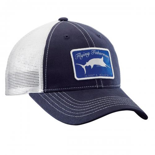 Marlin Trucker Hat - Navy/White H1721