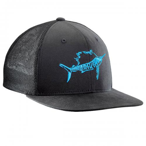Sailfish Fitted Trucker Hat - Black H1725