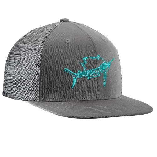 Sailfish Fitted Trucker Hat - Dark Graphite H1726