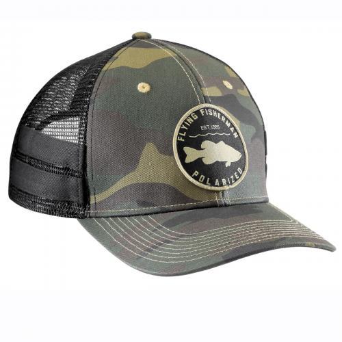 Bass Patch Trucker Hat Camo H1787