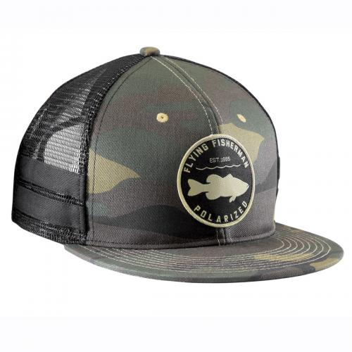 Bass Patch Flat Bill Hat Camo H1789