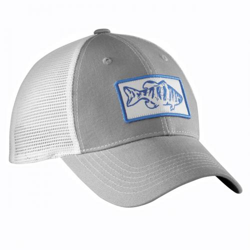 Bass Trucker Hat - Light Grey/White H1746