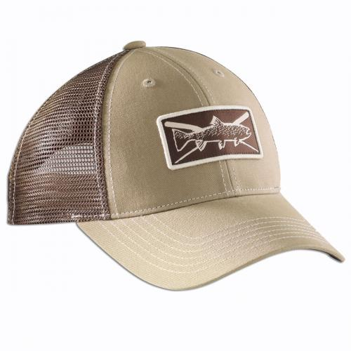Trout Trucker Hat - Khaki/Chocolate H1750