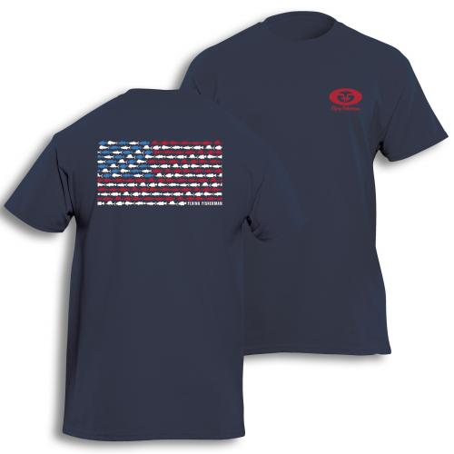 Fish Flag Tee Navy T1714N