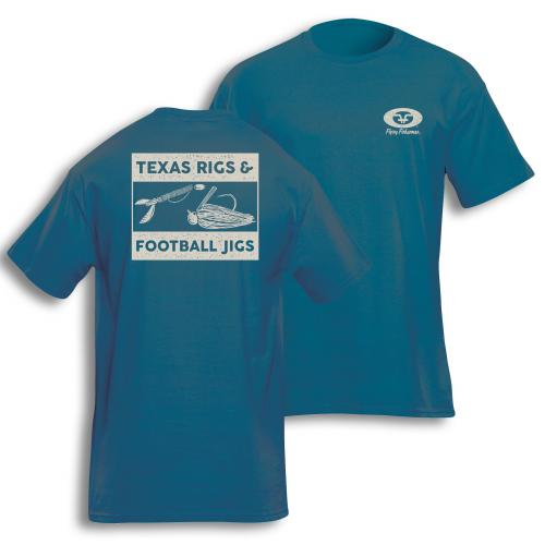 Rigs & Jigs Tee Cool Blue T1721B