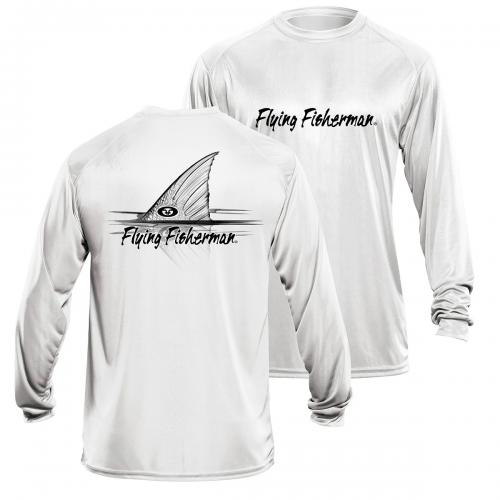 Redfish L/S Performance Tee White TL1407W