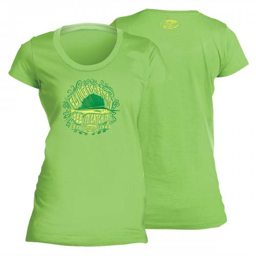 Chalk Sail Ladies Tee Key Lime T1707L