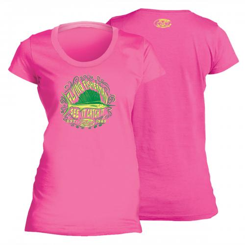 Chalk Sail Ladies Tee Hot Pink T1707P