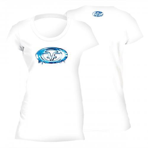 Water Logo Ladies Tee White T1708W