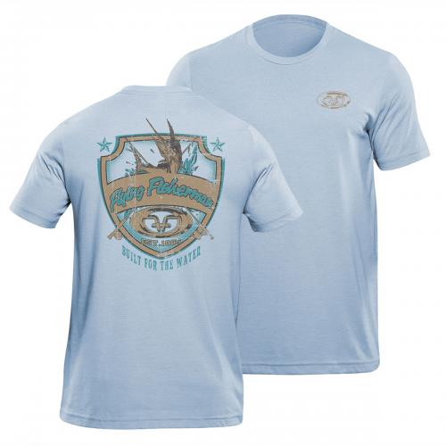 Shield Tee Blue Triblend T1710B