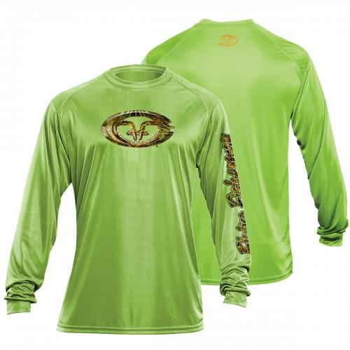 Camo Logo Performance Tee Lime TL1404L