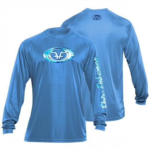 Water Logo Performance Tee Carolina Blue TL1405B