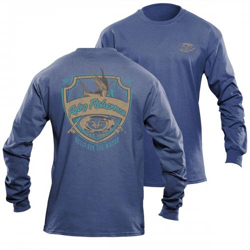 Shield L/S Tee Blue Triblend TL1710B