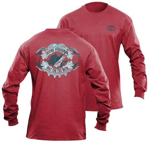 Cigar Label L/S Tee Red Triblend TL1713R
