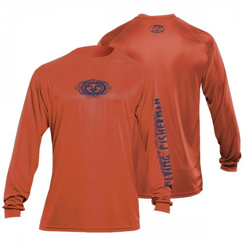FF Logo L/S Performance Tee Burnt Orange TL1401O