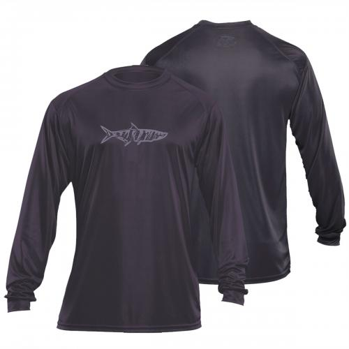 Tarpon L/S Performance Tee Charcoal TL1402C