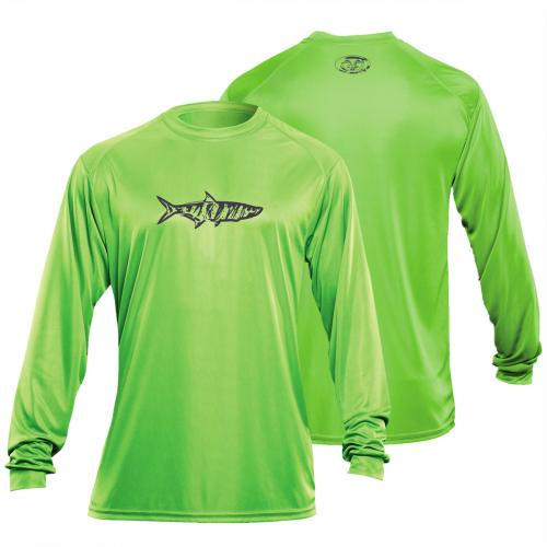 Tarpon L/S Performance Tee Lime TL1402L