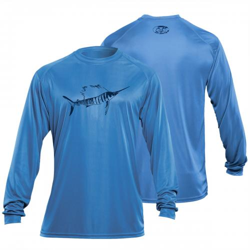 Sailfish L/S Performance Tee Carolina Blue TL1403B