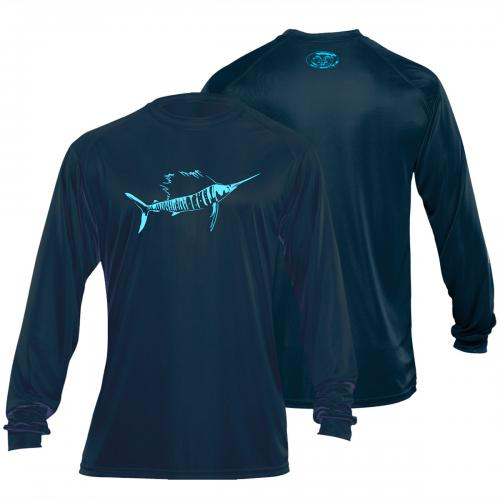 Sailfish L/S Performance Tee Navy TL1403N