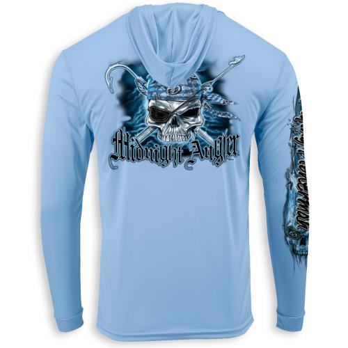 Pirate Skull Performance Hood Blue Mist TL1417B