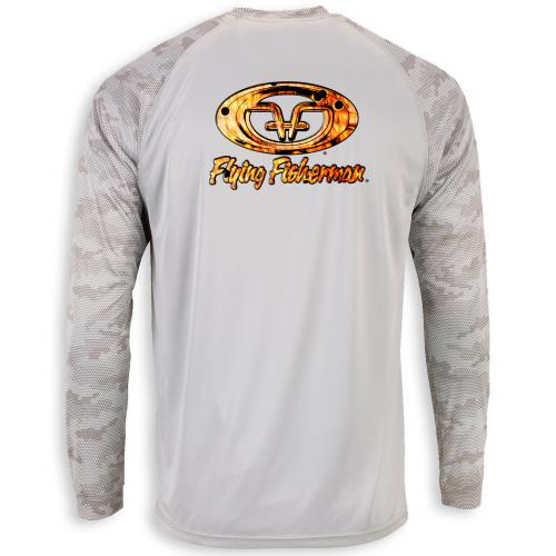Redfish Skin L/S Performance Tee Aluminum TL1419A