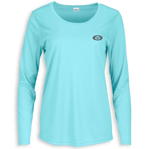 Women's L/S Performance Tee Aqua TL1422A