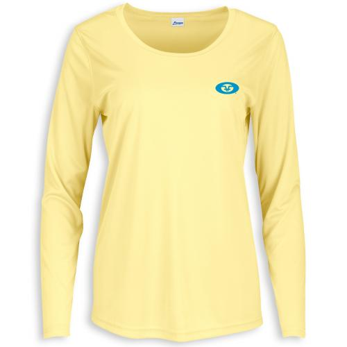 Women's L/S Permormance Tee Pale Yellow TL1422Y