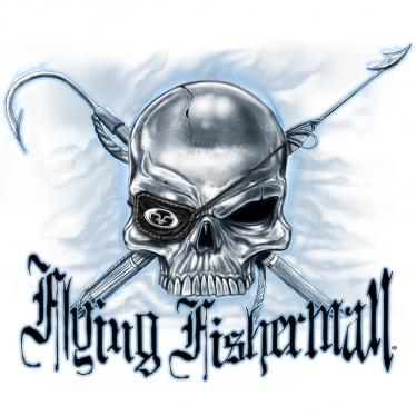 Flying Fisherman Pirate Skull Decal POP-02