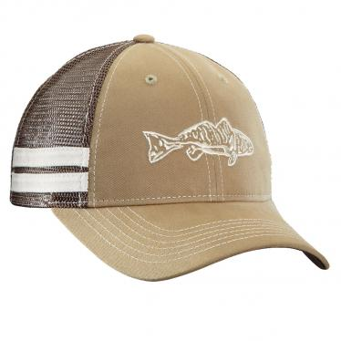 Redfish Trucker Hat - Khaki/Chocolate H1731