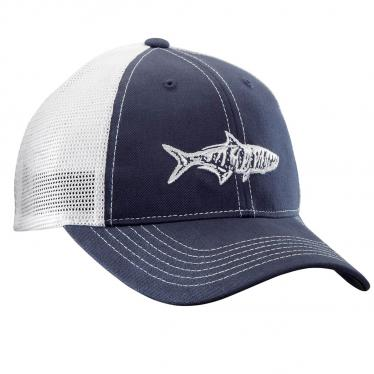 Tarpon Trucker Hat - Navy/White H1735