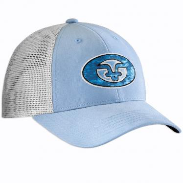 Water Camo Trucker Hat - Blue H1771