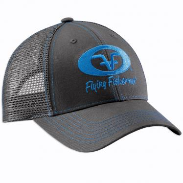 Neon Blue Logo Hat - Graphite H1775