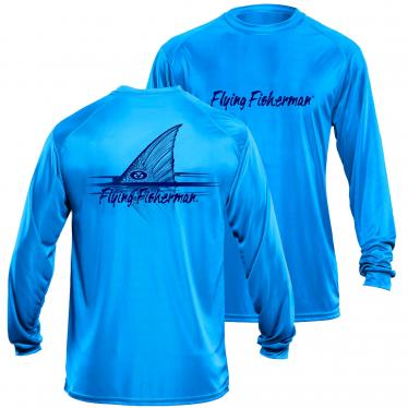 Redfish L/S Performance Tee Blue TL1407B