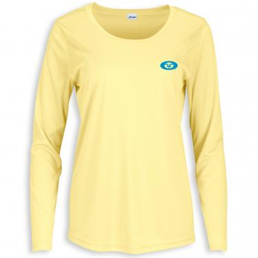 Women's L/S Permormance Tee Pale Yellow