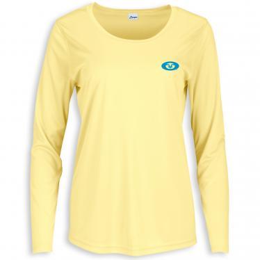 Women's L/S Permormance Tee Pale Yellow TL1422Y